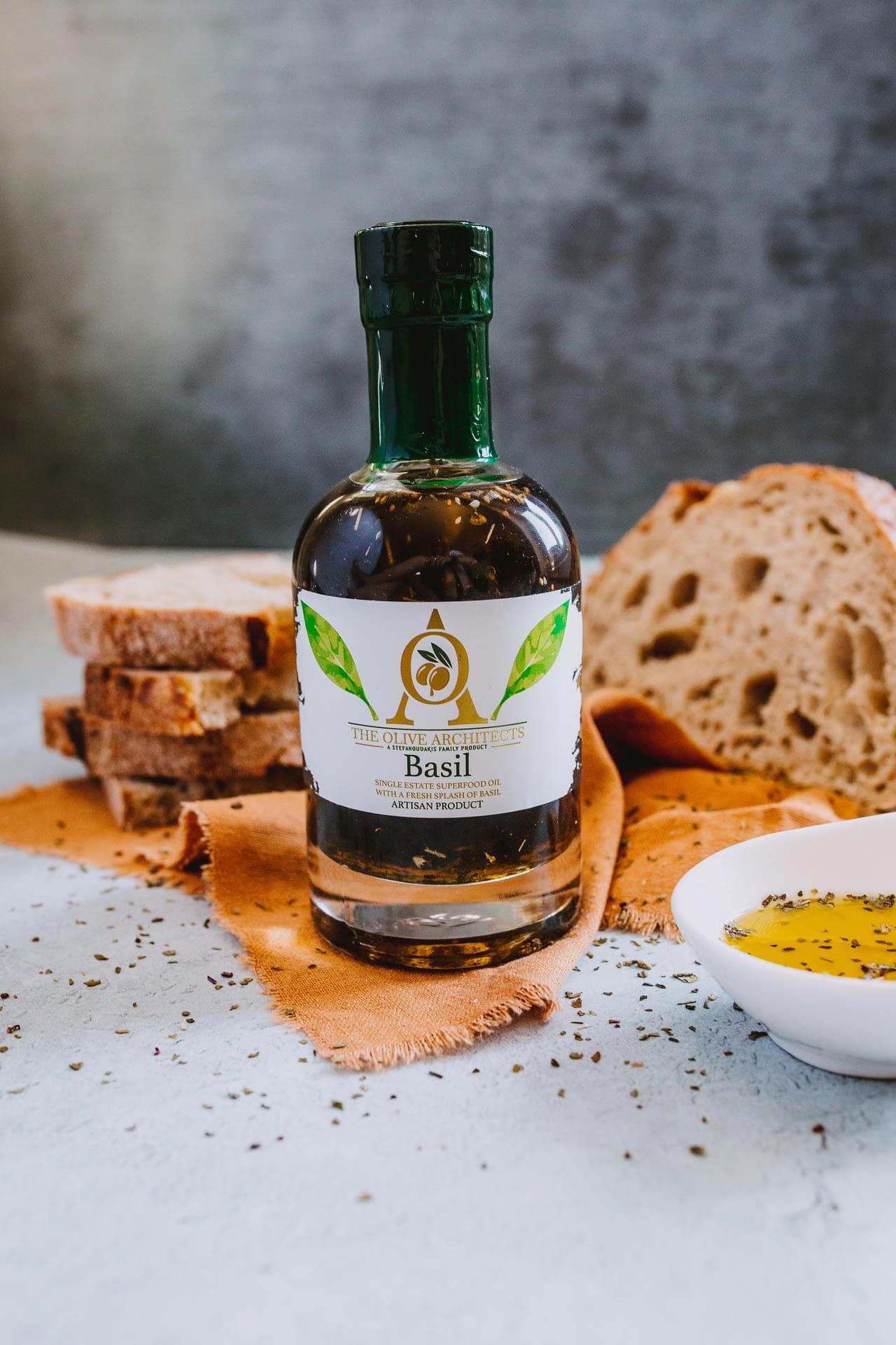 Extra virgin Basil oil